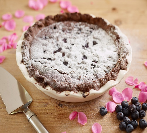 choc blueberry tart