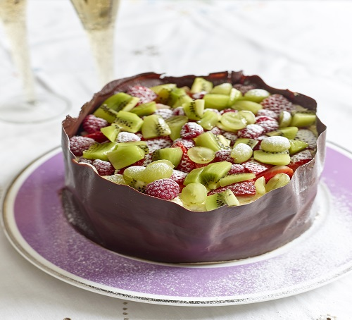 chocolate wrap fruity cake